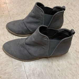 Report Gray ankle booties. Women's US Size 10.